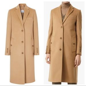 Burberry camel wool cashmere tailored coat